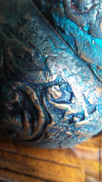 """Браслеты ручной работы. Ярмарка Мастеров - ручная работа. Купить Браслеты дерево в стиле """"Лофт"""" Рельеф Синий Каменный Вечерний. Handmade."""