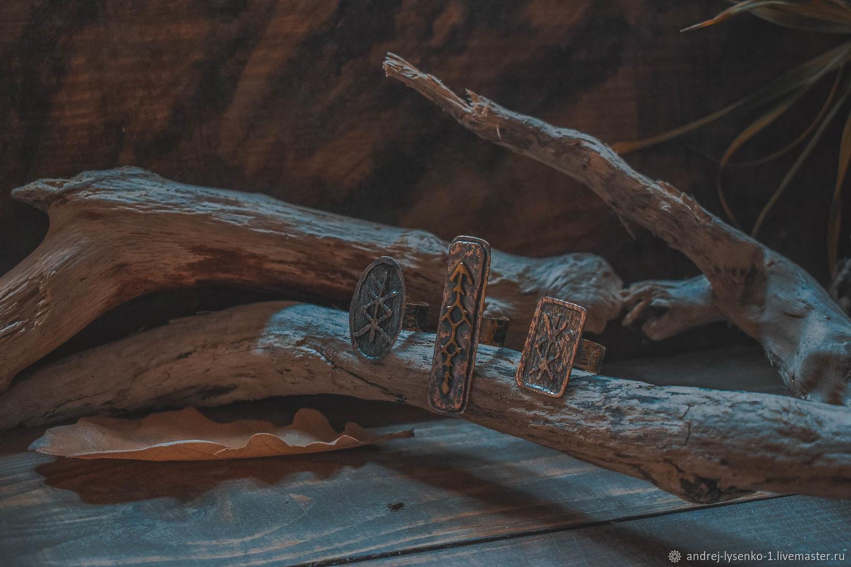 Рунические медные кольца, Набор колец, Краснодар,  Фото №1