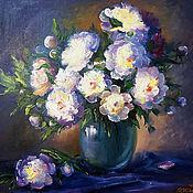 """Картины и панно handmade. Livemaster - original item Oil Painting on canvas """"Luxury peonies"""". Handmade."""