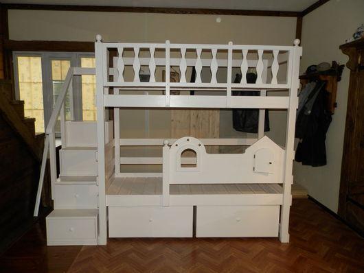 Детская ручной работы. Ярмарка Мастеров - ручная работа. Купить Детская кровать. Handmade. Белый, мебель из дерева