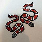 Аппликации ручной работы. Ярмарка Мастеров - ручная работа Нашивка Змея. Handmade.