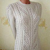 """Одежда ручной работы. Ярмарка Мастеров - ручная работа пуловер """"Косы цвета льна"""". Handmade."""