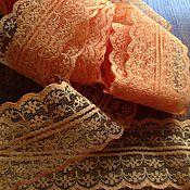 Материалы для творчества ручной работы. Ярмарка Мастеров - ручная работа Кружево капроновое, 4,5 см, цвет Оранжевый. Handmade.