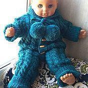 Работы для детей, handmade. Livemaster - original item Knitted Romper Royal(emerald). Handmade.