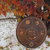 Музыкальные инструменты handmade. Livemaster - original item Harmony. Three of the world. Diamonds leather 60 cm. Handmade.
