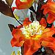 """Освещение ручной работы. Заказать Букет-светильник  """"Оранжевый Коралл"""". Elena&Anna (цветы-светильники). Ярмарка Мастеров. Светится в темноте, светлый"""