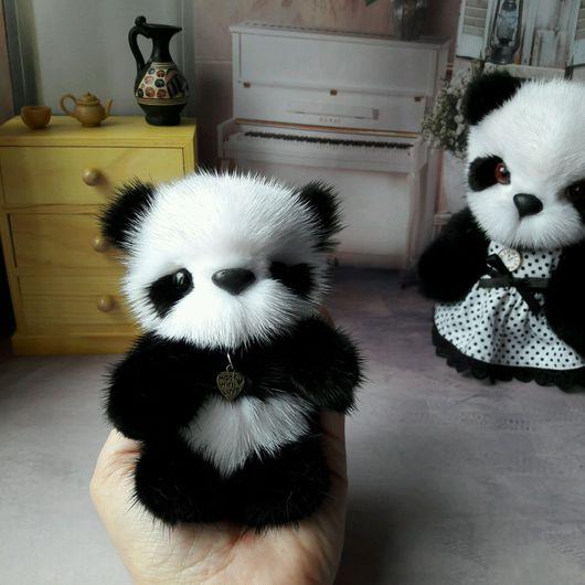 Мишки Тедди ручной работы. Ярмарка Мастеров - ручная работа. Купить Панда малыш из норки. Handmade. Панда, мишка