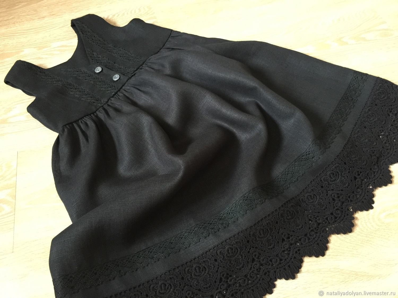 Linen sundress ' Schoolgirl, black', Dresses, Ivanovo,  Фото №1