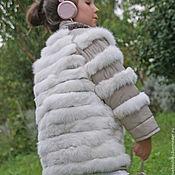 Работы для детей, handmade. Livemaster - original item The coat of the white rabbit for girls. Handmade.