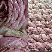 Материалы для творчества ручной работы. Ярмарка Мастеров - ручная работа Градиент. 100% шелк ручной окраски окраски- Tea rose. Handmade.