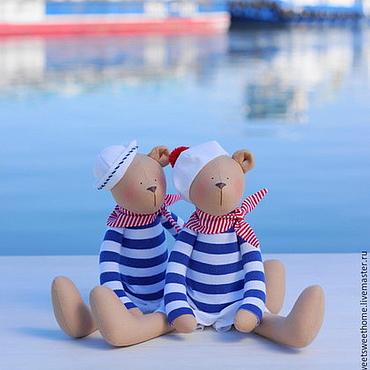 Куклы и игрушки ручной работы. Ярмарка Мастеров - ручная работа Морские мишки. Handmade.