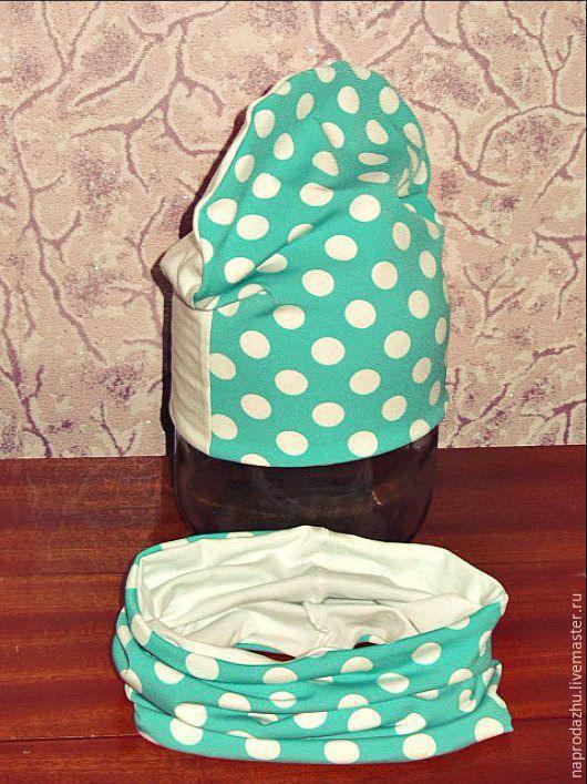 Детские аксессуары ручной работы. Ярмарка Мастеров - ручная работа. Купить ГОРОХИ шапочка + снуд. Handmade. Комбинированный