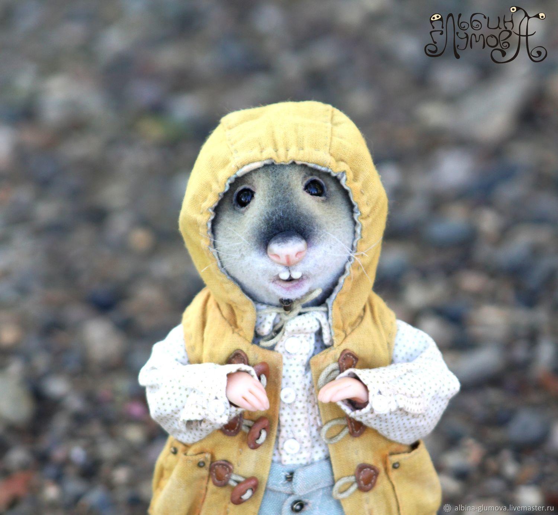 Мышонок Майрон, авторская кукла, Мягкие игрушки, Пермь,  Фото №1