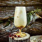 Посуда handmade. Livemaster - original item Wooden glass made of wood natural Siberian elm G3. Handmade.