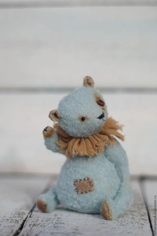 Мишки Тедди ручной работы. Ярмарка Мастеров - ручная работа. Купить Мишка тедди Василек. Handmade. Мишка тедди мятный