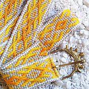 """Русский стиль ручной работы. Ярмарка Мастеров - ручная работа Ремень тканый """"Златоцвет"""". Handmade."""