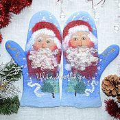 Аксессуары handmade. Livemaster - original item Copy of Felted mittens `Happy New Year!`. Handmade.