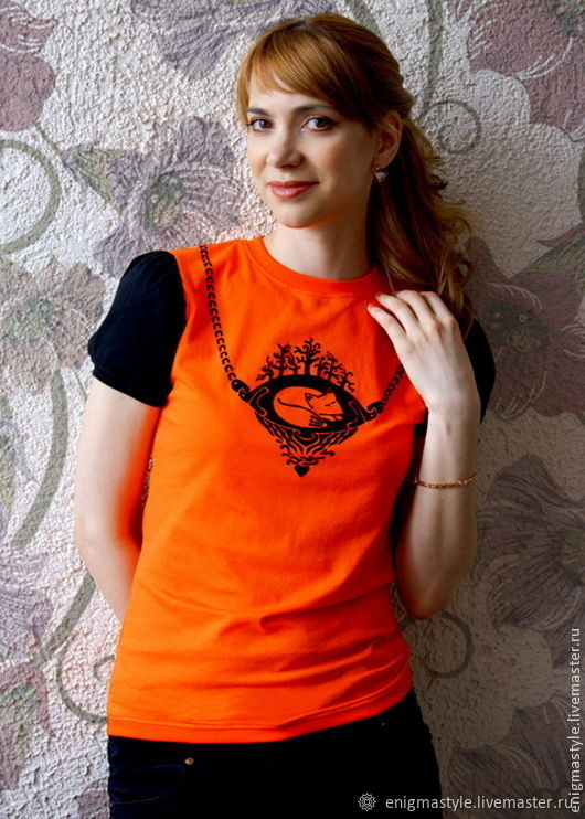 Fox t-shirt, women's fitted t-shirt with flashlight sleeve, T-shirts, Novosibirsk,  Фото №1