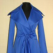 Одежда ручной работы. Ярмарка Мастеров - ручная работа Шикарный плащ - ультра-синий. Handmade.