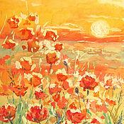 Картины и панно handmade. Livemaster - original item painting poppies painting field of poppies. Handmade.