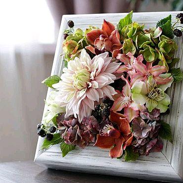 Цветы и флористика ручной работы. Ярмарка Мастеров - ручная работа Цветочная композиция с цветами из полимерной глины. Handmade.