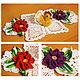 Кухня ручной работы. Ярмарка Мастеров - ручная работа. Купить Салфетка с Курочкой и цветочками. Handmade. Комбинированный, курочка ряба