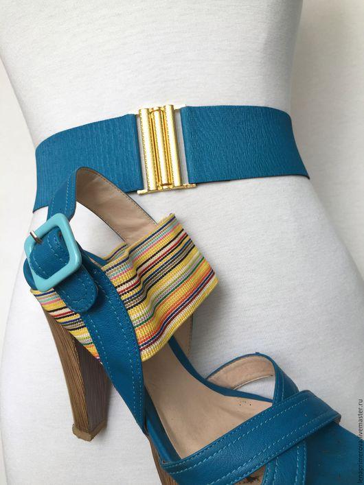 Пояса, ремни ручной работы. Ярмарка Мастеров - ручная работа. Купить Пояс БИРЮЗА, цвет под обувь, а также любой цвет пояса на заказ. Handmade.