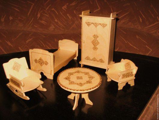 Кукольный дом ручной работы. Ярмарка Мастеров - ручная работа. Купить Набор кукольной мебели. Handmade. Мебель для кукол