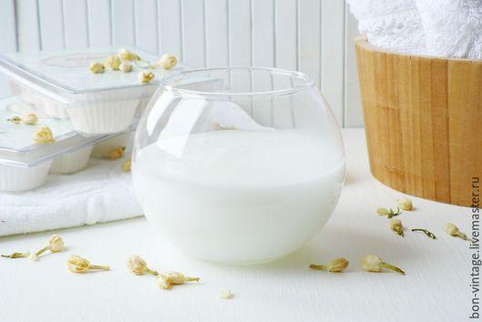 Пена, молочко для ванны ручной работы. Ярмарка Мастеров - ручная работа. Купить Жасмин - молочная ванна. Handmade. Белый