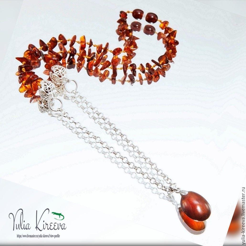 "Amber necklace ""Honey droplets"", Necklace, Chelyabinsk,  Фото №1"