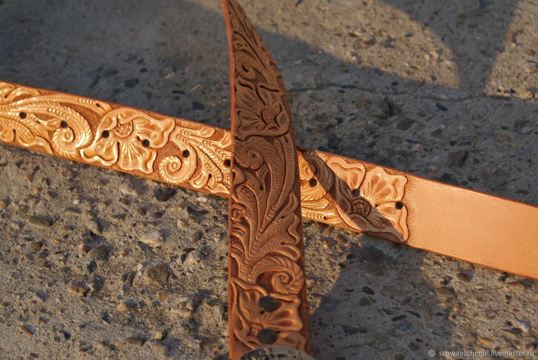 Beige Leather belt, Straps, Krasnodar,  Фото №1