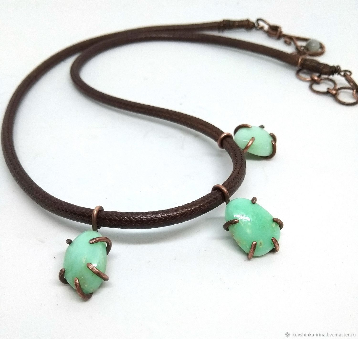 Necklace with chrysoprase, Necklace, St. Petersburg,  Фото №1