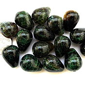 Материалы для творчества ручной работы. Ярмарка Мастеров - ручная работа Агат 15 камней набор темно - зеленый бусины капли гладкие. Handmade.