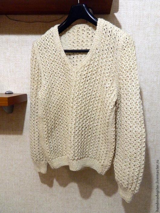 Кофты и свитера ручной работы. Ярмарка Мастеров - ручная работа. Купить пуловер женский ажурный. Handmade. Белый, пуловер ажурный
