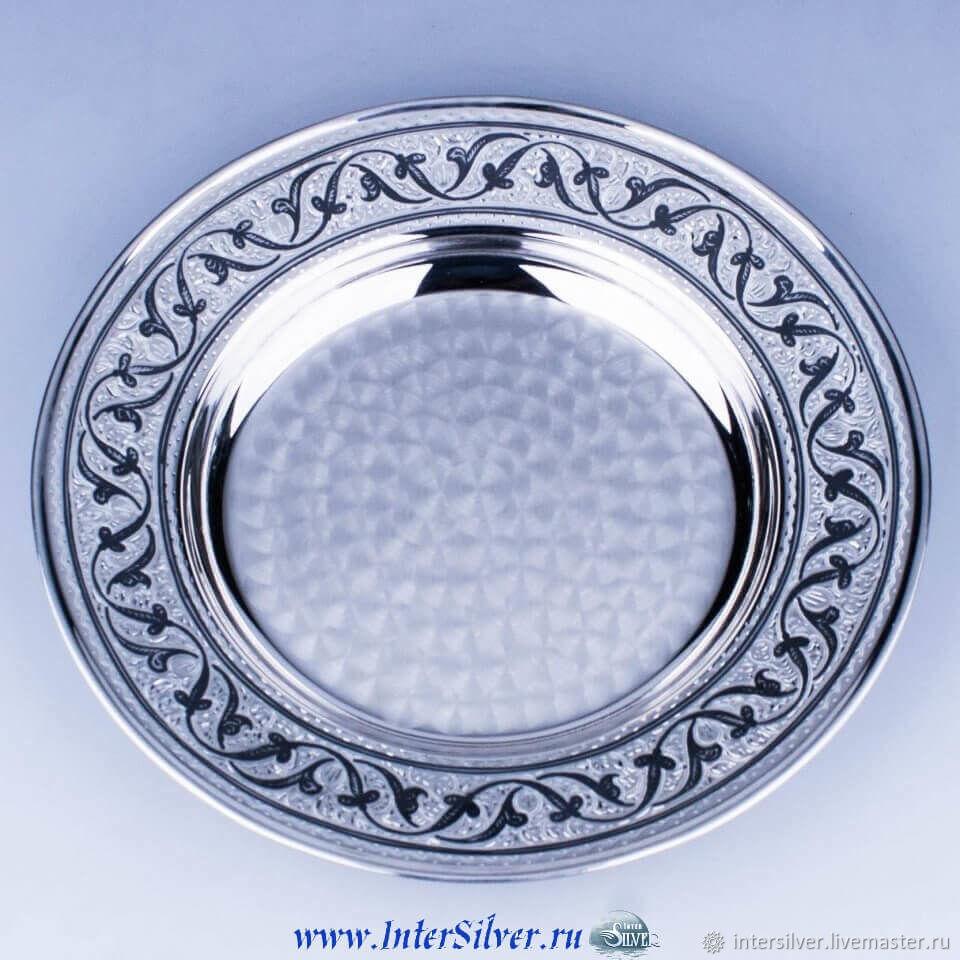 Тарелки ручной работы. Ярмарка Мастеров - ручная работа. Купить Тарелка серебряная. Handmade. Серебро, серебро