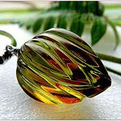 """Украшения ручной работы. Ярмарка Мастеров - ручная работа Кулон """"Чудесное преображение""""  янтарь серебро. Handmade."""