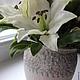 Свадебные цветы ручной работы. Белых лилий аромат. Елена Касимова. Ярмарка Мастеров. Интерьерная композиция, гиперикум