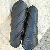 """Наручи ручной работы. Ярмарка Мастеров - ручная работа Наручи """"Спираль"""" из натуральной кожи. Handmade."""