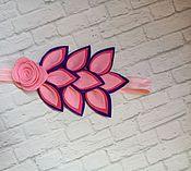 Украшения ручной работы. Ярмарка Мастеров - ручная работа Повязка с цветами из фетра. Handmade.