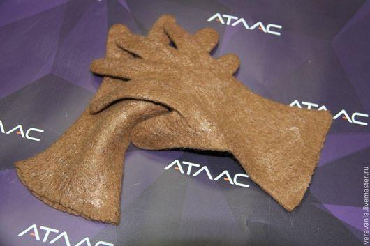 Варежки, митенки, перчатки ручной работы. Ярмарка Мастеров - ручная работа. Купить Перчатки коричневые. Handmade. Коричневый, однотонный, аксессуары