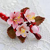Украшения handmade. Livemaster - original item Brooch Sakura. Handmade.