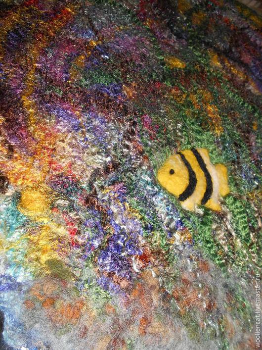 """Текстиль, ковры ручной работы. Ярмарка Мастеров - ручная работа. Купить Салфетка """"Подводный мир"""" резерв. Handmade. Разноцветный, вода"""