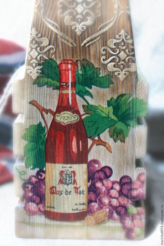 Корзины, коробы ручной работы. Ярмарка Мастеров - ручная работа. Купить Короб,подставка для вина или масла. Handmade. Коричневый