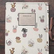 Канцелярские товары handmade. Livemaster - original item Album for herbarium Succulents (A4, for 20 plants). Handmade.