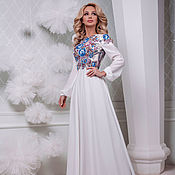 Одежда handmade. Livemaster - original item Dress white dressy dress long to the floor
