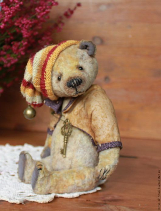 Мишки Тедди ручной работы. Ярмарка Мастеров - ручная работа. Купить Вересковый мед.. Handmade. Бежевый, коллекционный мишка, винтаж