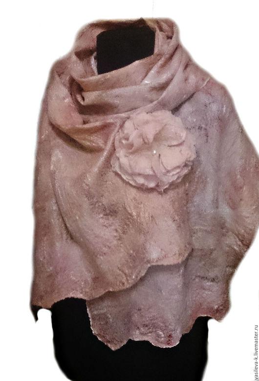 """Шарфы и шарфики ручной работы. Ярмарка Мастеров - ручная работа. Купить Шарф """"Нежный пион"""". Handmade. Бледно-розовый, подарок"""