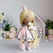 Куклы и игрушки ручной работы. Ярмарка Мастеров - ручная работа Кукла интерьерная текстильная ручной работы Принцесса тильда в розовом. Handmade.