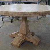 Столы ручной работы. Ярмарка Мастеров - ручная работа Круглый  стол из дуба 1200 мм. Handmade.