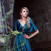 Одежда ручной работы. Ярмарка Мастеров - ручная работа Бирюзовое платье в стиле ампир. Handmade.